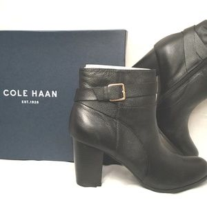 COLE HAAN Signature Rhinecliff Black Ankle Bootie